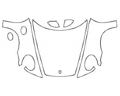 2020 PORSCHE 911 CARRERA 4 CABRIOLET BASE Full Hood (Wrapped Edges) Split Fenders Mirrors