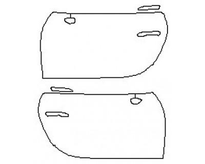 2020 PORSCHE 911 CARRERA 4 CABRIOLET BASE Full Doors (Wrapped Edges)