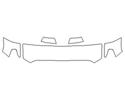 2020 TOYOTA TUNDRA 1794 EDITION Hood (18 Inch Wrapped Edges) Fenders