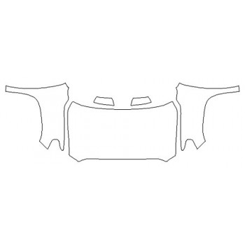 2020 TOYOTA TUNDRA LIMITED Full Hood (Wrapped Edges) Fenders Mirrors