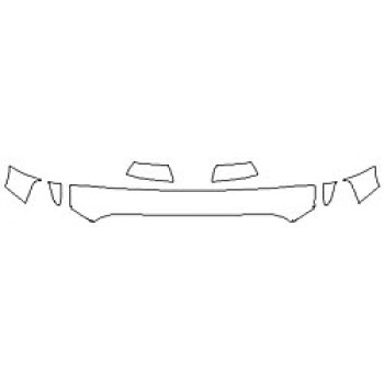 2020 TOYOTA TUNDRA LIMITED Hood (12 Inch Wrapped Edges) Fenders