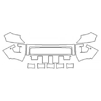 2020 TOYOTA TUNDRA LIMITED Bumper With Sensors