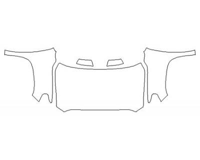 2020 TOYOTA TUNDRA PLATINUM Full Hood (Wrapped Edges) Fenders Mirrors
