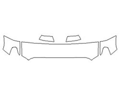 2020 TOYOTA TUNDRA SR5 Hood (18 Inch) Fenders