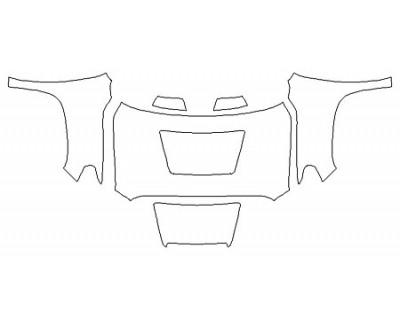 2020 TOYOTA TUNDRA SR5 TRD SPORT Full Hood Fenders Mirrors