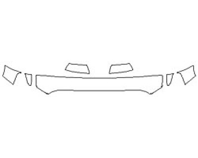 2020 TOYOTA TUNDRA SR5 TRD SPORT Hood (12 Inch Wrapped Edges) Fenders