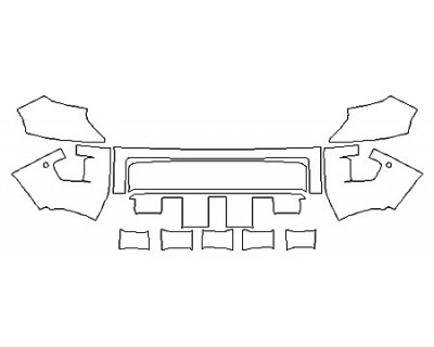 2020 TOYOTA TUNDRA SR5 TRD SPORT Bumper With Sensors