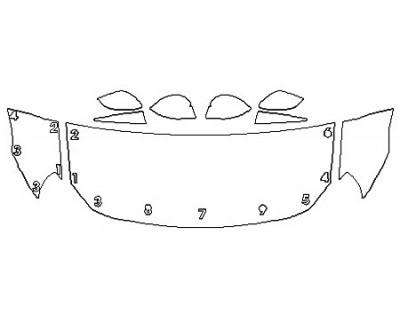 2020 TOYOTA 86 GT Hood (24 Inch) Fenders Mirrors