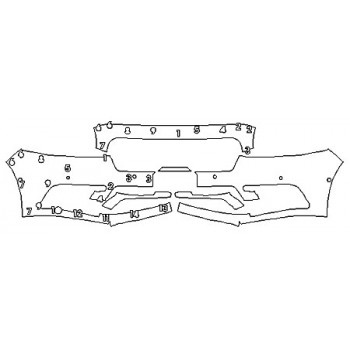 2020 LINCOLN CONTINENTAL BLACK LABEL Bumper With Sensors (Plate Cutout)