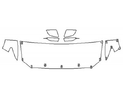 2020 LINCOLN CONTINENTAL RESERVE Hood (24 Inch) Fenders Mirrors