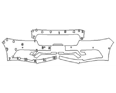 2020 LINCOLN CONTINENTAL STANDARD Bumper With Sensors (Plate Cutout)