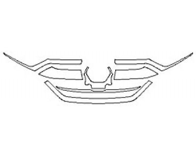 2020 HONDA CR-V LX Grille