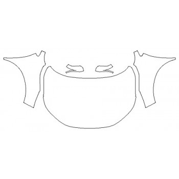 2020 HONDA CR-V TOURING Full Hood (Wrapped Edges) Fenders Mirrors