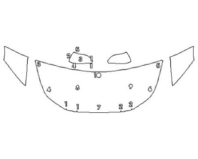 2020 TOYOTA PRIUS AWD-E Hood (24 Inch Wrapped Edges) Fenders Mirrors
