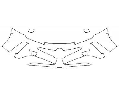 2020 TOYOTA PRIUS AWD-E Bumper With Sensors (2 Piece)