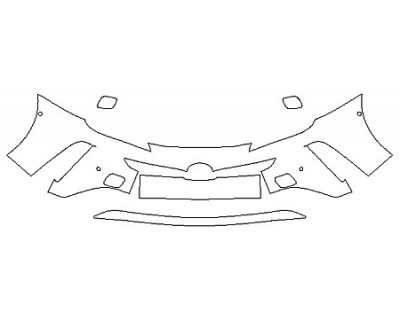 2020 TOYOTA PRIUS AWD-E Bumper With Sensors (3 Piece)