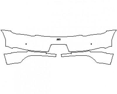 2020 PORSCHE 718 BOXSTER BASE  REAR BUMPER WITH 718 EMBLEM