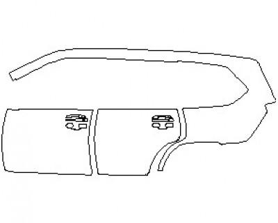 2020 LEXUS LX 570 WITH SPORT PKG. REAR QUARTER PANEL AND DOORS LEFT SIDE