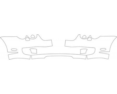 2004 BENTLEY CONTINENTAL GT  Bumper (with Plate Cut Out) Kit