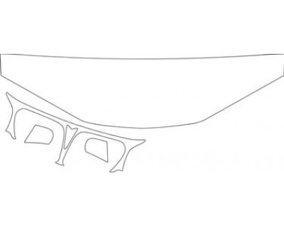 1996 PONTIAC GRAND AM GT  HOOD FENDER AND GRILLE KIT