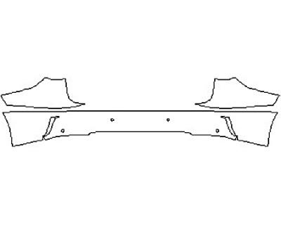 2017 LEXUS RX 350 Full Rear Bumper With Sensors