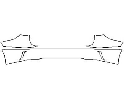 2017 LEXUS RX 450H Full Rear Bumper