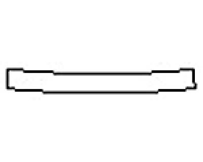 2016 NISSAN ALTIMA 2.5 SR Rear Bumper Deck
