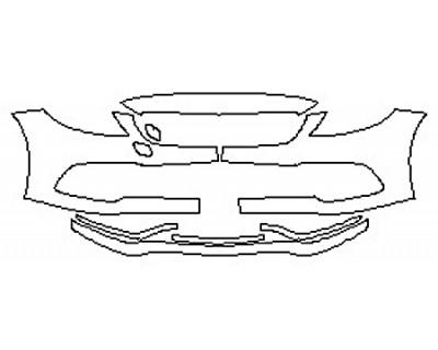 2017 MERCEDES C-CLASS C63 AMG S SEDAN Bumper (7 Piece)