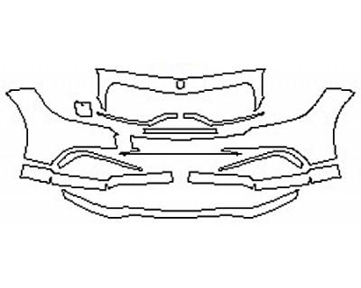 2017 MERCEDES CLS-CLASS CLS63 AMG Bumper (11 Piece)
