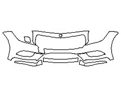 2017 MERCEDES CLS-CLASS CLS550 Bumper (5 Piece)