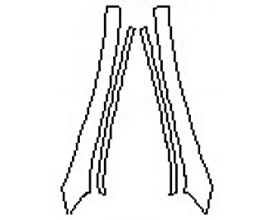 2017 MERCEDES E-CLASS E400 CABRIOLET BASE A-Pillars