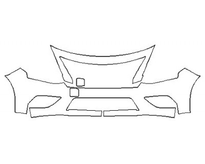 2020 NISSAN VERSA S PLUS Bumper (2 Piece)