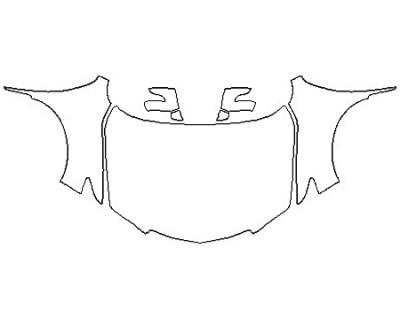 2017 ACURA RDX Full Hood(Wrapped Edges) Fenders Mirrors