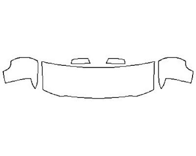 2018 CHEVROLET SILVERADO 1500 Hood(24 Inch)  Fenders  Mirrors