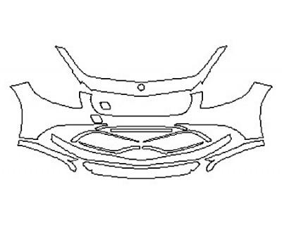 2017 MERCEDES S-CLASS COUPE S65 AMG Bumper (11 Piece)