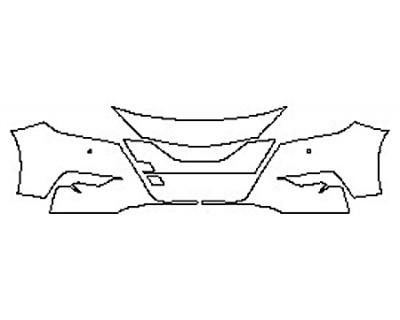 2018 NISSAN MAXIMA S Bumper With Sensors (4 Piece)