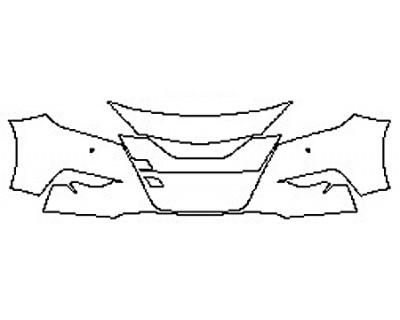 2018 NISSAN MAXIMA SV Bumper With Sensors (3 Piece)