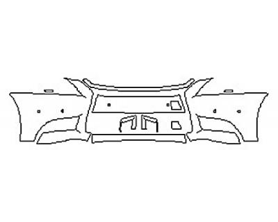 2016 LEXUS LS 460 F-SPORT Bumper With Sensors