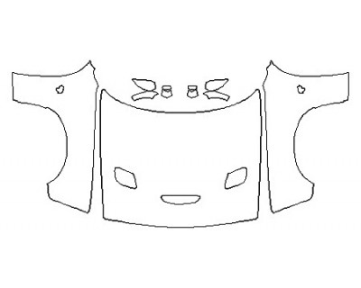 2017 DODGE CHALLENGER HELLCAT Full Hood (Wrapped Edges)  Fenders  Mirrors