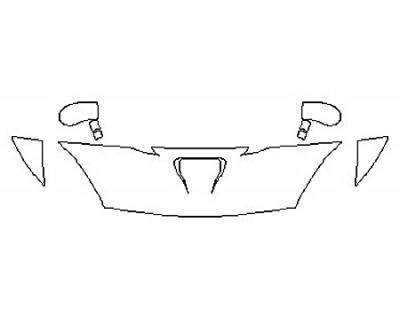 2017 DODGE VIPER GT Hood (18 Inch)  Fenders  Mirrors