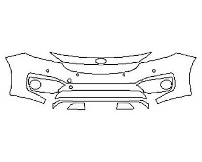 2018 KIA SEDONA SXL Bumper With Sensors (7 Piece)