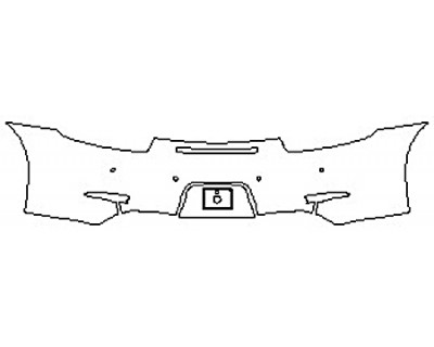 2016 PORSCHE 911 CARRERA S Full Rear Bumper With Sensors