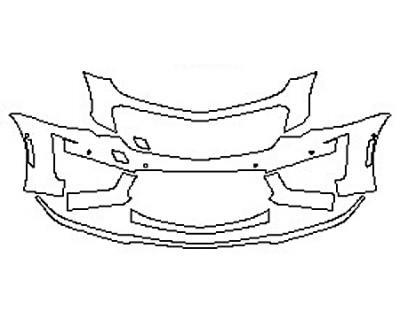 2017 CADILLAC CTS-V SEDAN Bumper With Sensors (6 Piece)