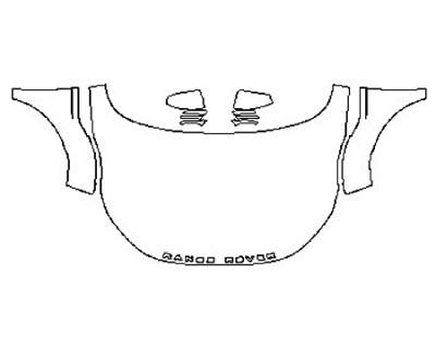 2016 LAND ROVER RANGE ROVER EVOQUE 5DR SE Full Hood Fenders Mirrors