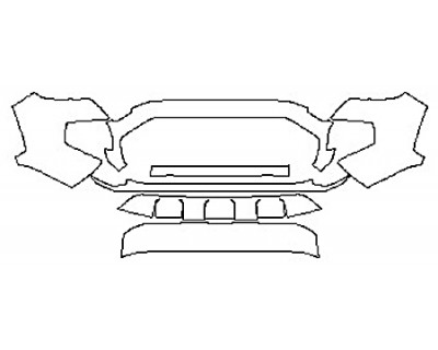 2020 TOYOTA TACOMA TRD SPORT Bumper (7 Piece)