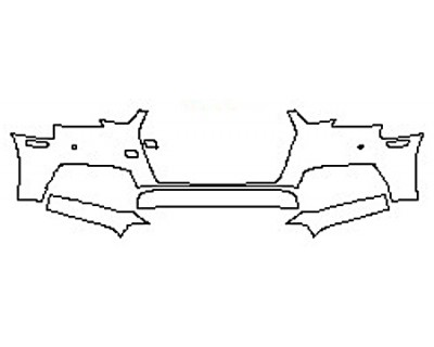 2017 AUDI A4 Bumper With Sensors (3 Piece)
