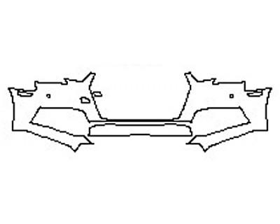 2017 AUDI A4 S-LINE Bumper With Sensors (2 Piece Option 1)
