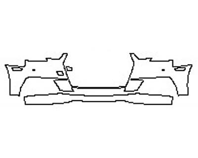 2017 AUDI A4 S-LINE Bumper With Sensors (2 Piece Option 2)