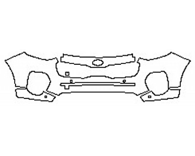 2017 KIA SPORTAGE LX Bumper With Sensors (4 Piece)