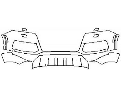 2017 AUDI Q7 Bumper with Sensors